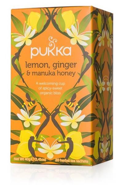 Pukka Lemon Ginger & Manuka Honey Tea 20 poser