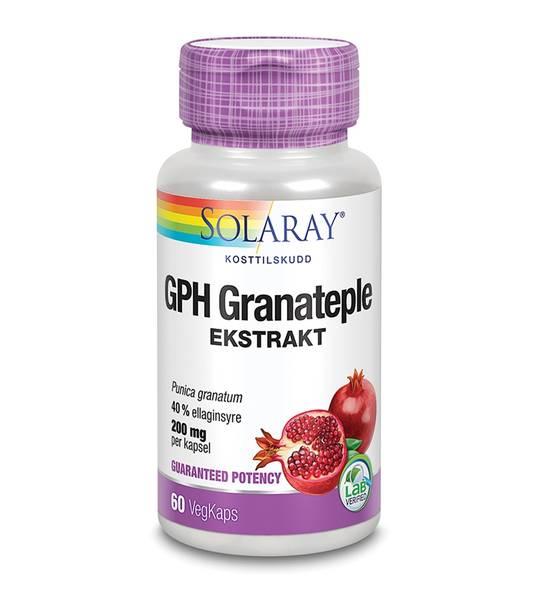 Solaray GPH Granateple 60 kapsler