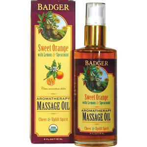 Bilde av Badger Aromaterapi Massasjeolje Orange 118 ml