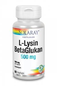 Bilde av Solaray L-Lysin & BetaGlukan 60 kapsler