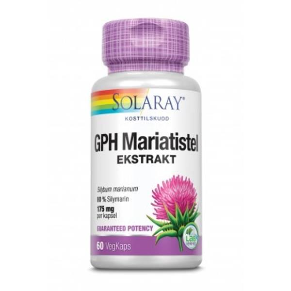 Solaray GPH Mariatistel 60 kapsler