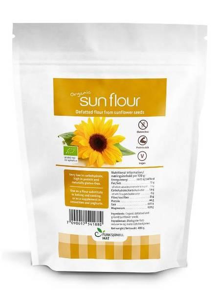 SunFlour Solsikkemel fettredusert 400g